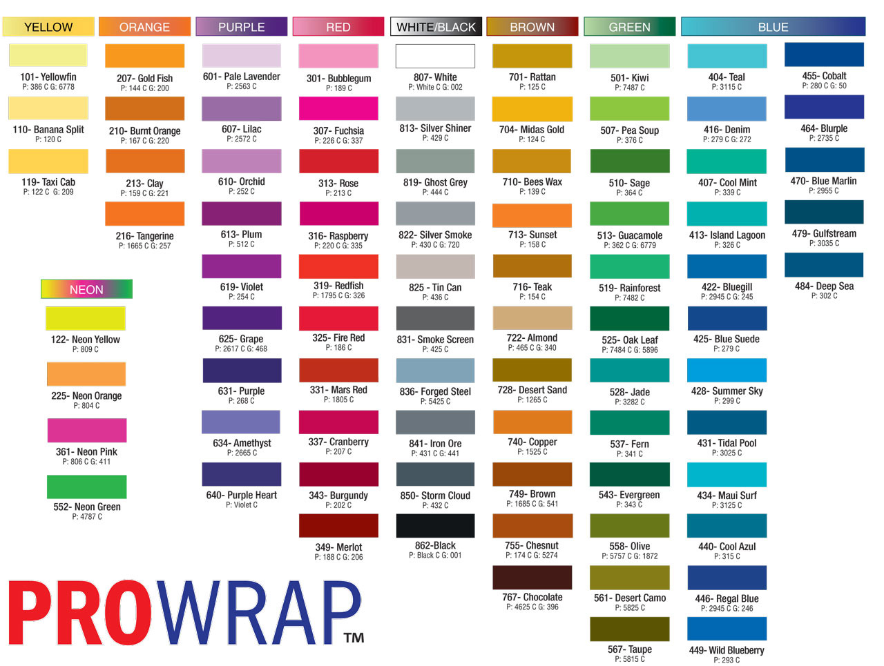 Color Chart With Names Images